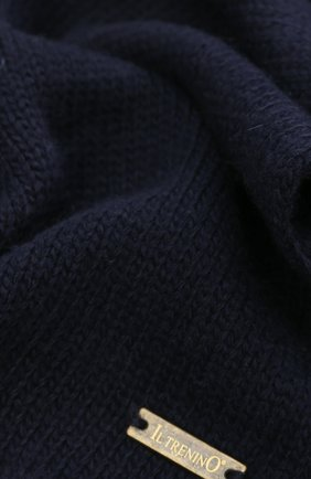 Детский шарф из смеси шерсти и кашемира IL TRENINO темно-синего цвета, арт. 17 5150/E0   Фото 2