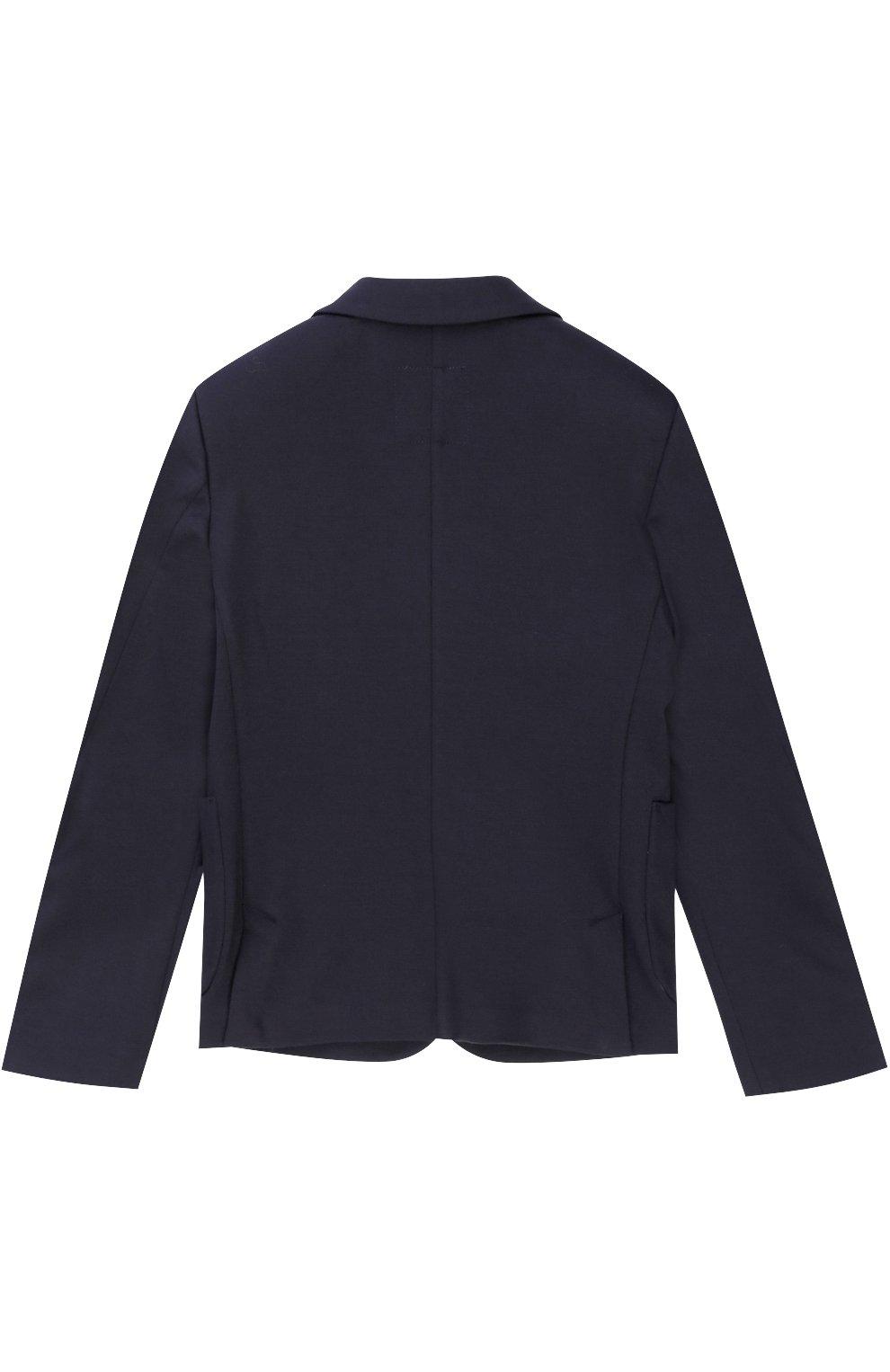 Пиджак джерси на двух пуговицах с декором | Фото №2