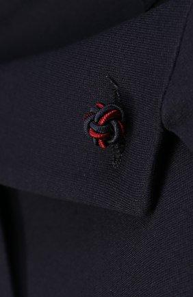 Пиджак джерси на двух пуговицах с декором | Фото №3