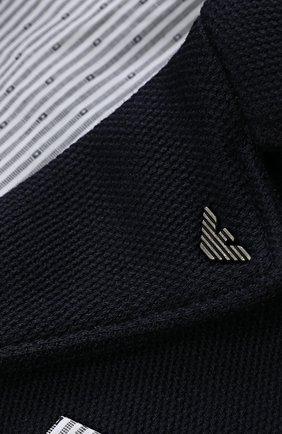 Однобортный пиджак джерси с логотипом бренда   Фото №3