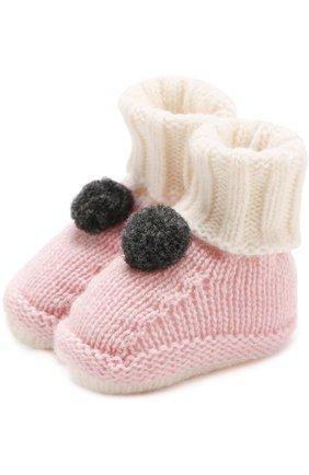 Шерстяные носки с помпоном   Фото №1