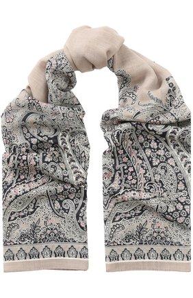 Шерстяной шарф с узором | Фото №1