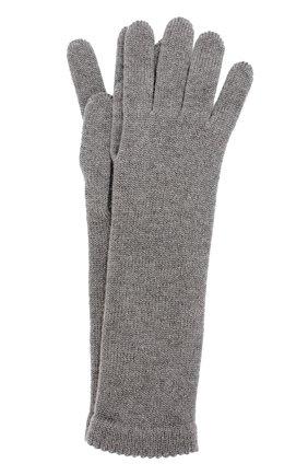 Удлиненные перчатки из кашемира Inverni серые   Фото №1
