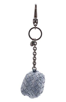 Кожаный брелок на молнии с плетением intrecciato | Фото №1