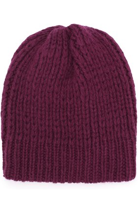 Шерстяная шапка фактурной вязки Koshakova фиолетового цвета | Фото №1