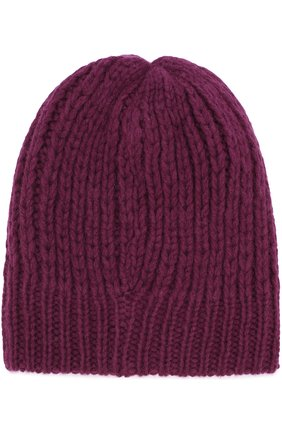 Шерстяная шапка фактурной вязки Koshakova фиолетового цвета   Фото №1