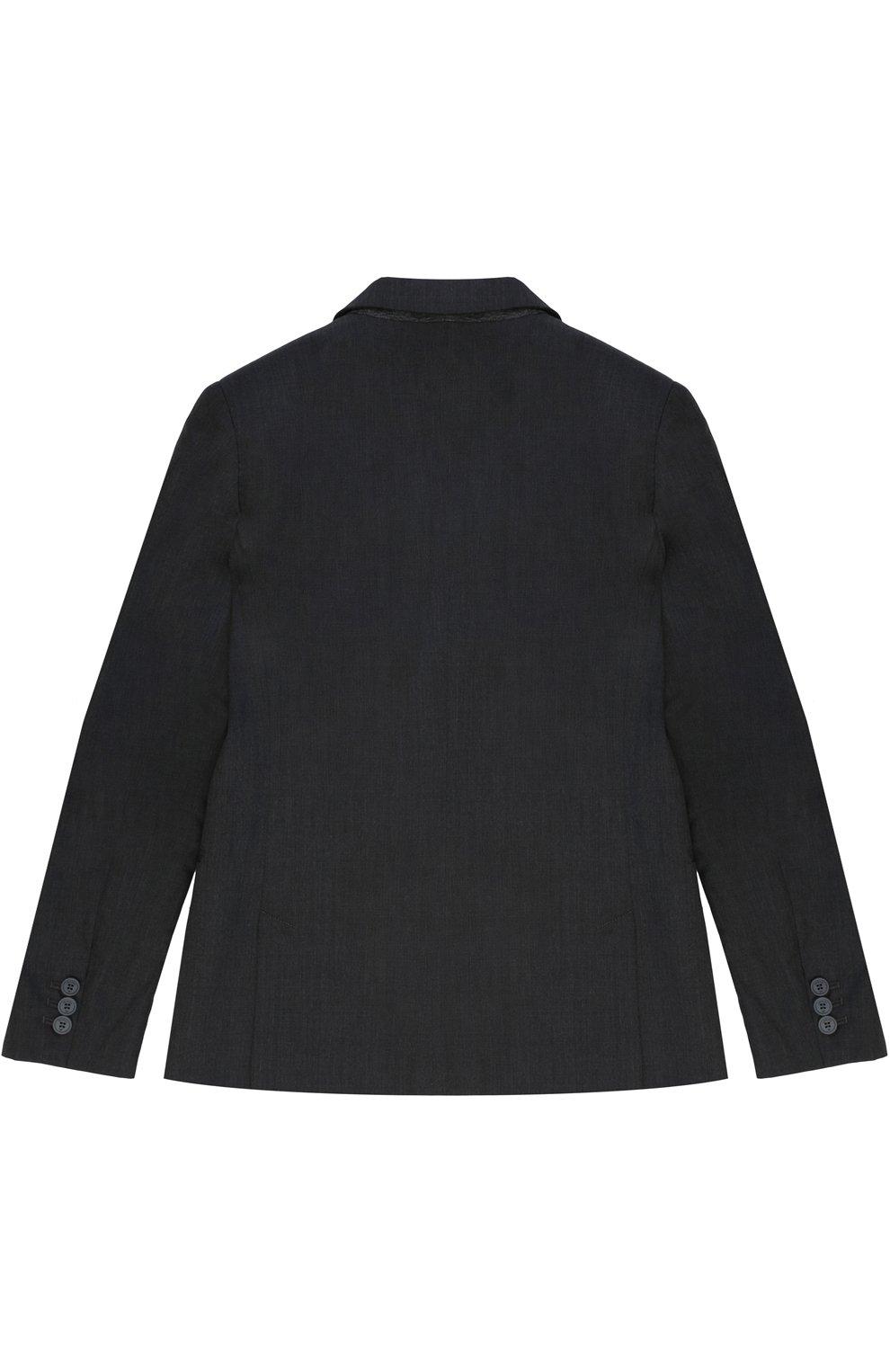 Шерстяной костюм с пиджаком на двух пуговицах | Фото №3