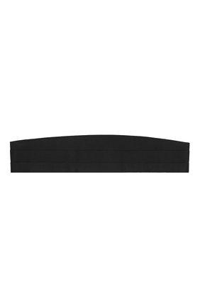 Мужской шелковый камербанд CANALI черного цвета, арт. 25/HJ00040 | Фото 1