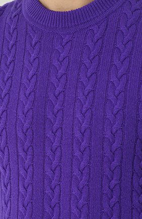 Кашемировый джемпер фактурной вязки   Фото №5