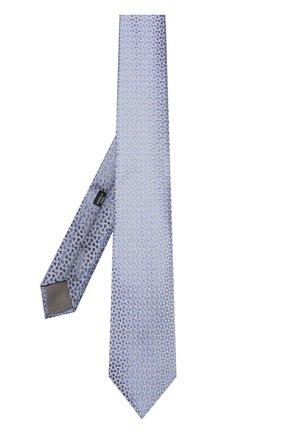 Шелковый галстук с узором Charvet серого цвета | Фото №1