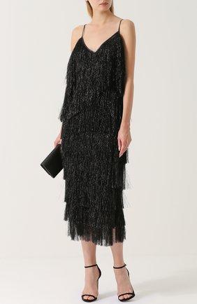 Платье-миди с декоративной отделкой Walk of Shame черное | Фото №1