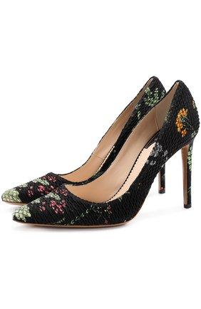 Текстильные туфли на шпильке | Фото №1