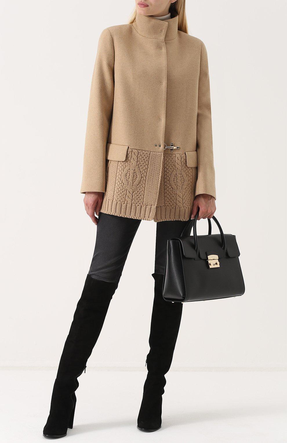 Женская сумка-тоут metropolis FURLA черного цвета — купить за 33500 ... 44550b680e3