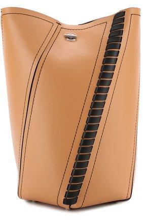 Сумка Hex Medium с косметичкой Proenza Schouler коричневая цвета | Фото №1