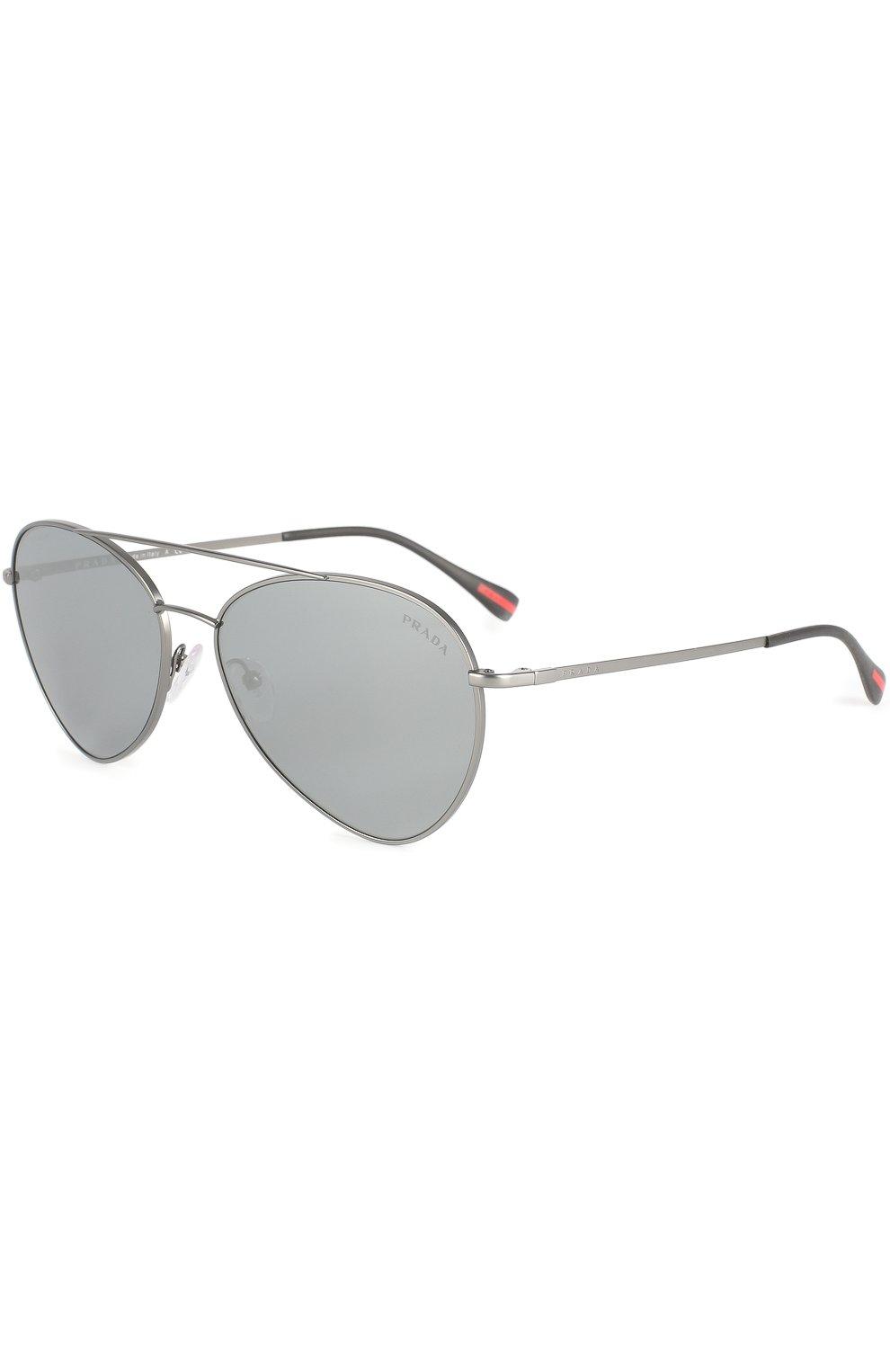 Женские солнцезащитные очки prada linea rossa PRADA серебряного цвета, арт. 50SS-7CQ5L0   Фото 1