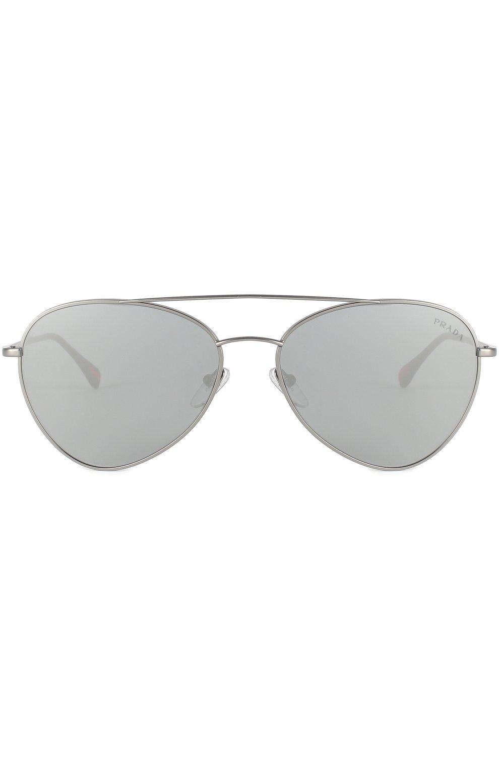 Женские солнцезащитные очки prada linea rossa PRADA серебряного цвета, арт. 50SS-7CQ5L0   Фото 3