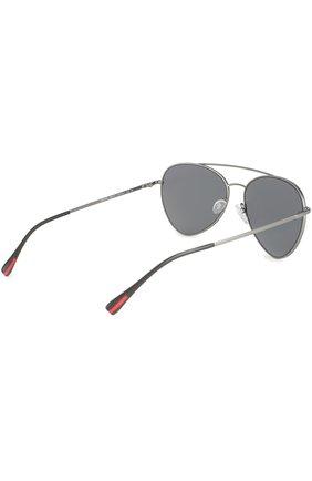 Женские солнцезащитные очки prada linea rossa PRADA серебряного цвета, арт. 50SS-7CQ5L0   Фото 4