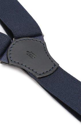 Детские подтяжки с отделкой из натуральной кожи ZACCONE синего цвета, арт. 309   Фото 2 (Материал: Текстиль; Статус проверки: Проверено)