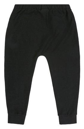 Спортивные брюки из хлопка с логотипом бренда Marcelo Burlon Kids of Milan черного цвета | Фото №1