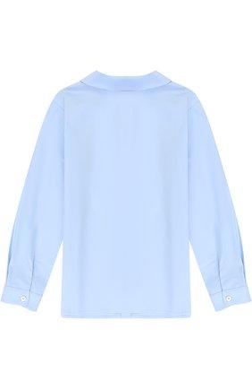 Хлопковая блуза с рюшей | Фото №2