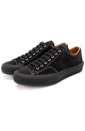 Замшевые кеды на шнуровке