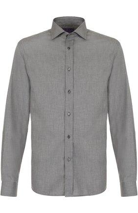 Мужская хлопковая сорочка с воротником кент RALPH LAUREN серого цвета, арт. 790659543 | Фото 1