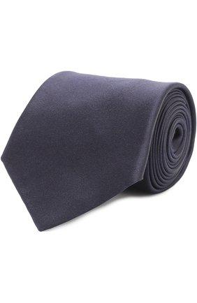 Мужской шелковый галстук GIORGIO ARMANI темно-синего цвета, арт. 360054/7A998 | Фото 1
