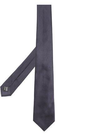 Мужской шелковый галстук GIORGIO ARMANI темно-синего цвета, арт. 360054/7A998 | Фото 2