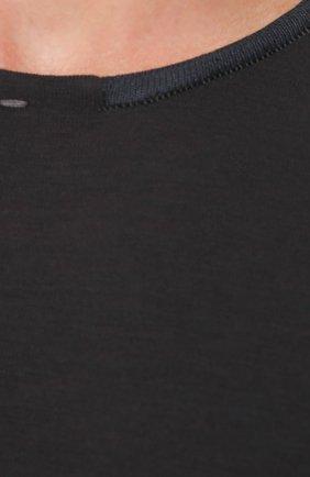 Удлиненный джемпер из шерсти тонкой вязки | Фото №5