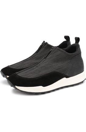 Комбинированные кроссовки на молнии
