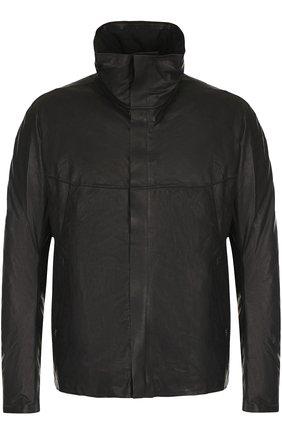 Кожаная куртка на молнии с воротником-стойкой