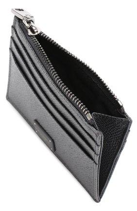 Кожаный футляр для кредитных карт с отделением для монет Dolce & Gabbana темно-серого цвета   Фото №3