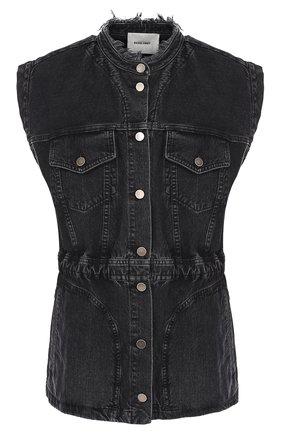 Джинсовый приталенный жилет Rachel Comey черный | Фото №1