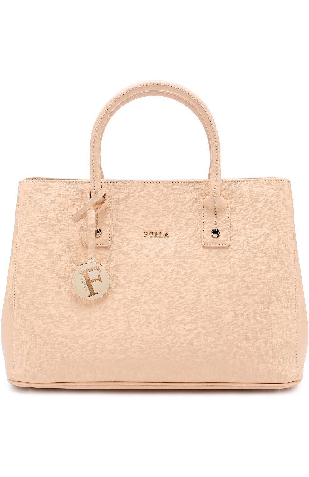 13c0cc2dc872 Женская сумка linda FURLA бежевая цвета — купить за 25000 руб. в ...