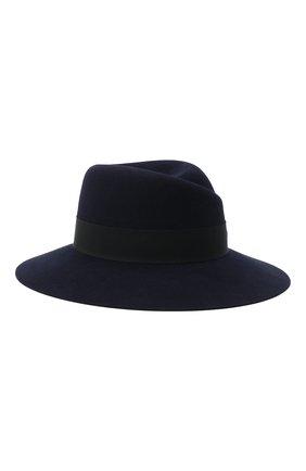 Женская фетровая шляпа с лентой MAISON MICHEL синего цвета, арт. 1001046002/VIRGINIE | Фото 1