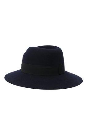 Женская фетровая шляпа с лентой MAISON MICHEL синего цвета, арт. 1001046002/VIRGINIE | Фото 2
