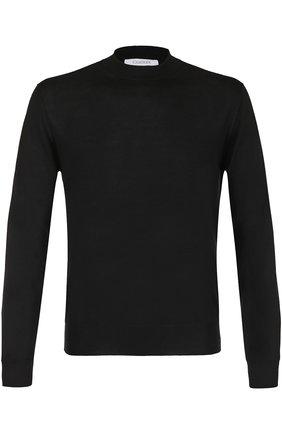 Мужской джемпер тонкой вязки из смеси кашемира и шелка CRUCIANI черного цвета, арт. CU512 | Фото 1