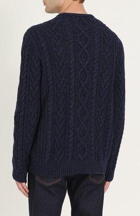 Джемпер фактурной вязки из смеси хлопка и кашемира | Фото №4