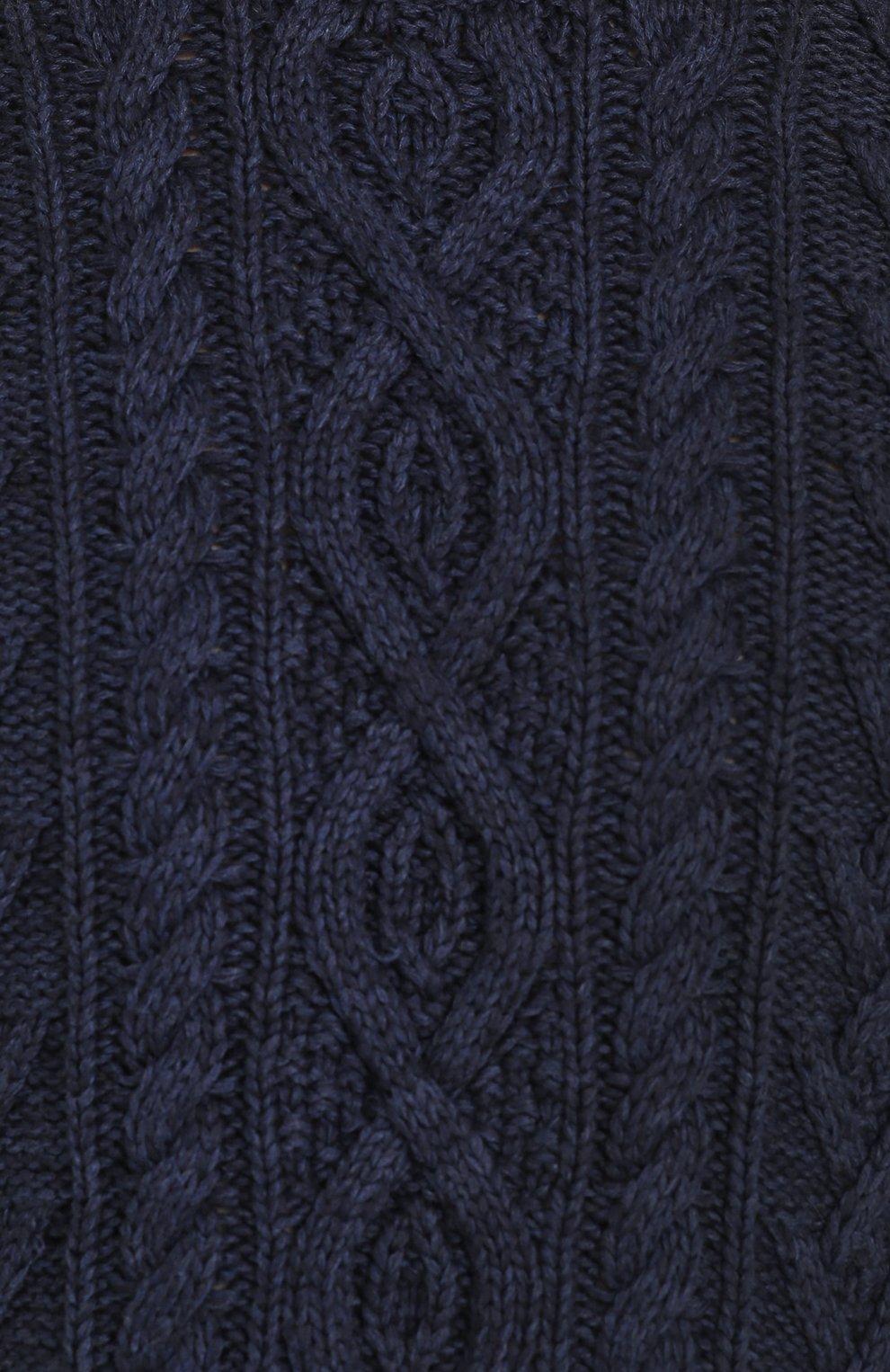 Джемпер фактурной вязки из смеси хлопка и кашемира | Фото №5
