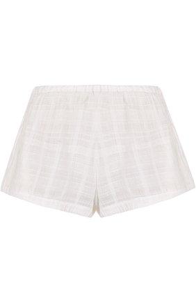 Хлопковые мини-шорты Skin белые | Фото №1