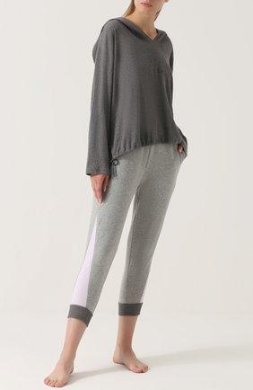 Укороченные хлопковые брюки Skin серые | Фото №1