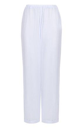 Жатые укороченные брюки Skin голубые | Фото №1