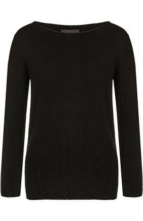 Кашемировый пуловер с вырезом-лодочка