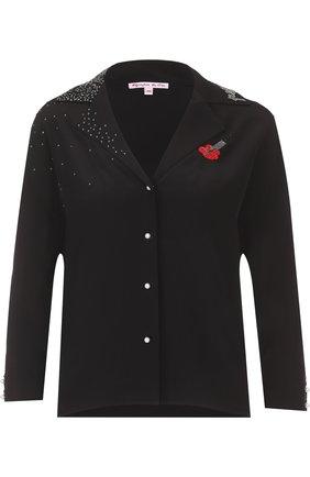 Шелковая блуза с укороченным рукавом | Фото №1