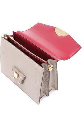 Сумка Luciaиз тисненой кожи Dolce & Gabbana серая цвета   Фото №4