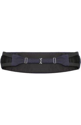 Мужской шелковый камербанд GIORGIO ARMANI темно-синего цвета, арт. 360033/7P998 | Фото 2