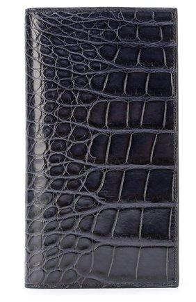 Мужской портмоне из кожи аллигатора с отделениями для кредитных карт BRIONI темно-синего цвета, арт. 0HAM/06720 | Фото 1