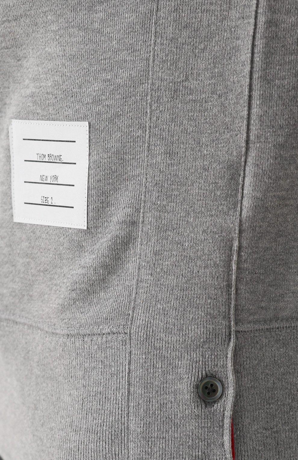 Хлопковый свитшот с контрастной отделкой | Фото №5