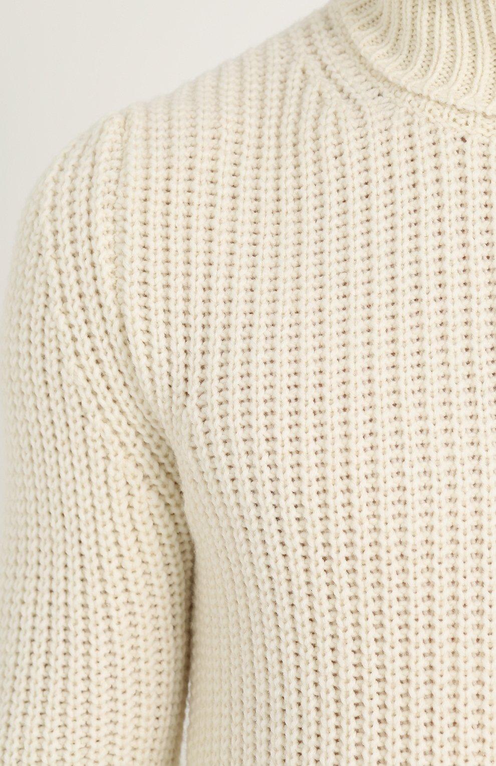 Шерстяной свитер с воротником-стойкой | Фото №5