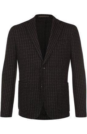Однобортный пиджак из смеси шерсти и хлопка